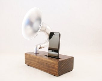 Acoustic Speaker, iPhone Speaker for iPhone 4/5/6, Horn Speaker, Passive Speaker, Portable Speaker, Music Player, Steampunk Speaker, Speaker