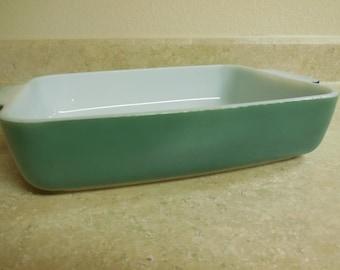 RARE Vintage PYREX Blue-Green Heinz Promotional Utility Baking Dish 507-B