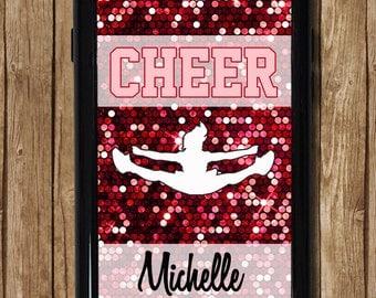 Cheer iPhone 6s Case, Cheerleading iPhone 6 plus case, Glitter Cheer iPhone 6 Case,