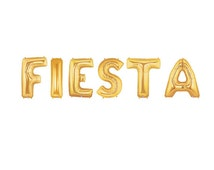 Fiesta Letter Balloons, Party Gold Letter Balloons, Fiesta Gold Balloons, Cinco de Mayo Balloons, Mexican Inspired Party, Cinco de Drinko