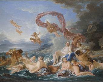 Francois Boucher: The Triumph of Venus. Fine Art Print/Poster. (00138)