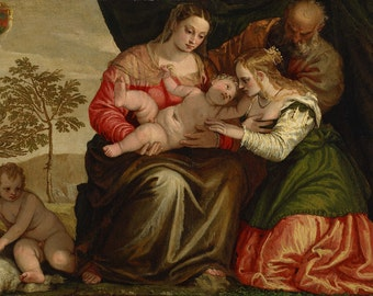 Veronese: The Mystic Marriage of St. Catherine. Fine Art Print/Poster. (002025)