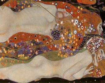 Gustav Klimt: Water Serpents II. Fine Art Print/Poster. (003659)