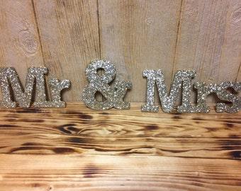 Custom Mr & Mrs Wedding Sweetheart Table Decor