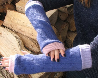 Cashmere Fingerless Gloves - Arm Warmers - Typing Gloves
