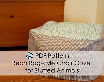 PDF Pattern For Bean Bag Chair Style Cover Stuffed Animals