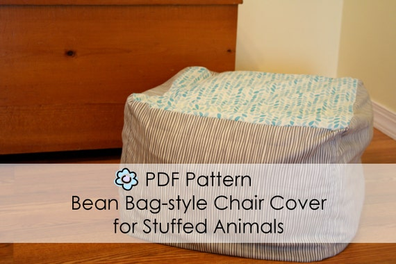 Pdf Pattern For Bean Bag Chair Style Cover For Stuffed Animals