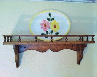 Vintage Wooden Plate Rack, Vintage Plate Shelf, Vintage Wooden Rack, Vintage Plate Rack, Vintage Wooden Plate Shelf, Old Plate Display Rack