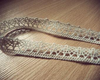 Romantic headband lace off-white colour