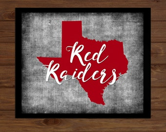 digital download texas tech university red raiders home decorgift lubbock texas college - Home Decor Lubbock Tx