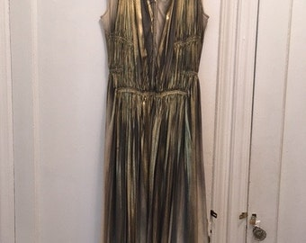 Issey Miyake gold ombre dress