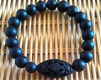 Shungite bracelet & Cinnabar
