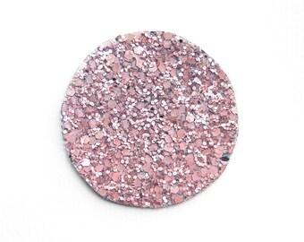 Pink glitter brooch