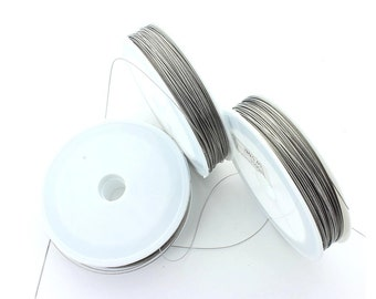 Tigertail beading wire 0.45mm thick.  Price is for 1 reel of 90 meters
