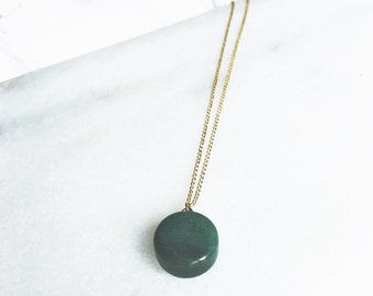 Necklace Green Stone / Goldfilled 18K / BAMBI Boutique / JN13
