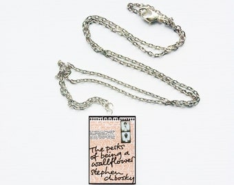 Perks of Being a Wallflower mini book necklace