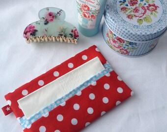 Pocket tissue holder, travel tissue cover, handbag tissue pouch