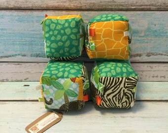 SALE -- Safari Friends Plush Blocks