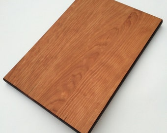 Large cutting board, wood cutting board, cherry cutting board, chopping board serving board 9 x 17 wood cheese board bread mothers day gift
