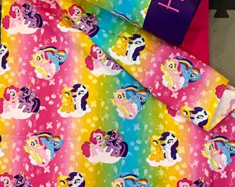 Kindermat covers with attached blanket and pillowcase. My Little Pony- kindermat covers!