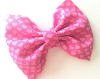 Valentine's Day Girly Hearts Hair Bow