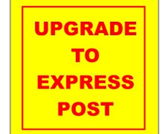 Upgrade Standard Postage to Express Postage