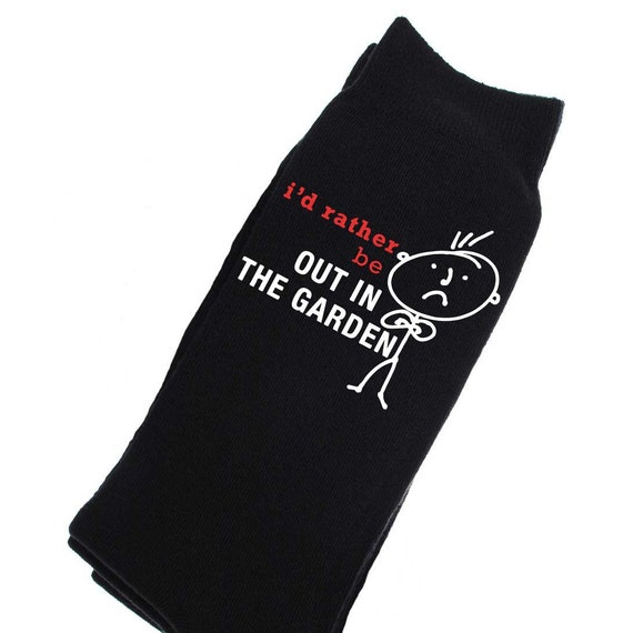 gardening socks mens i 39 d rather be out in the garden socks