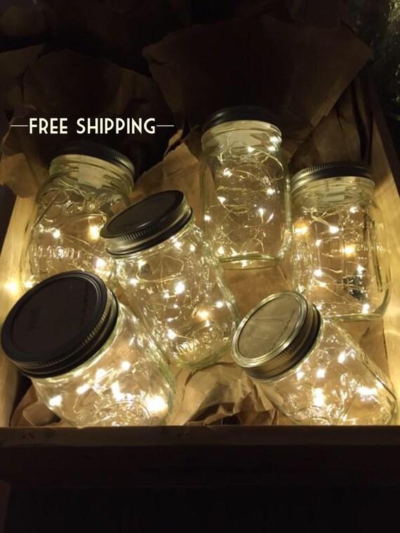 Firefly lights and mason jar outdoor lightning rustic fairy like this item aloadofball Choice Image