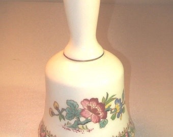 """COALPORT - Bell in Ming Rose Hand Painted Size 3 3/4"""""""