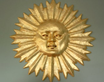 Discounted 24kt Gilded Sun Mask Wall Decor