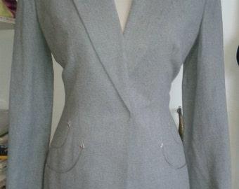 1940s Original Grey wool Suit by Milgrim