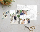 Custom Designed Thank You A6 Postcard With Writing Space. Printed Thank You. Wedding Thank You Card, Wedding Photograph
