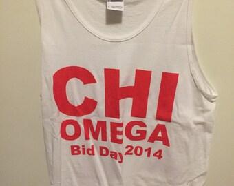 Small Chi Omega bid day tank