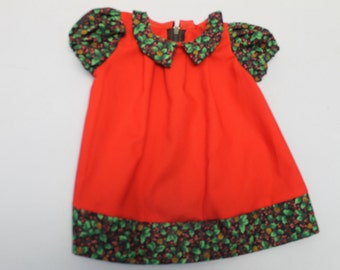 Red xxsmall christmas dress- under 7 pounds