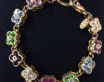 Joan Rivers Crystal Flower Bracelet