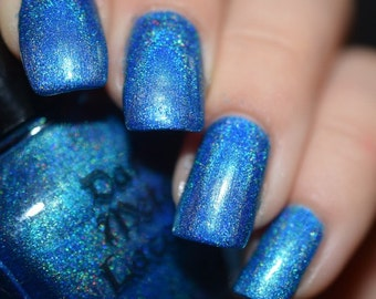 Sky is Over - Turquoise holo indie nail polish (11ml)