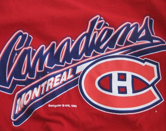 Vintage Montreal Canadiens T-shirt Hockey vintage Adult Large
