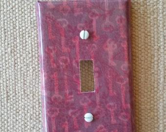 Romantic keys light switch plate cover