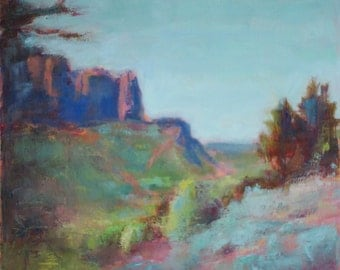 Zion Park Original Oil Painting 12 X 12