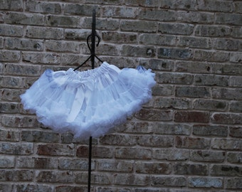 Ready to Ship White Pettiskirt 18-24mos - FREE SHIPPING