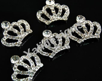 Set of 5pcs 27mm Metal Spark Rhinestone Crown Style-Wedding and Children Headbands or Hair Clips-YTB54