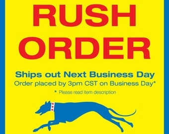 RUSH ORDER and Priority Mail- Order by 3pm CST on business day & Ship out next day via Priority Mail