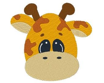 Giraffe Machine Embroidery Design 024815 Safari Animal Filled stitch 4X4 5X7 8X8 6X10 Instant download