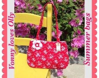 Pretty Shoulder Bag 100% Cotton Handmade