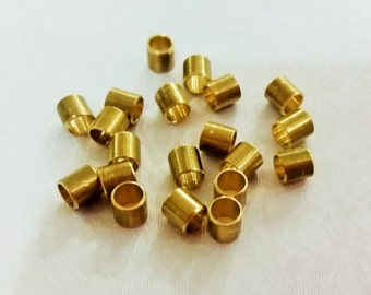 100 Pcs Raw Brass 5 x 5 mm Tube Spacers , Brass Small Tube - Hole 4.2 mm