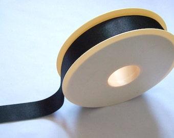 Black ribbon satin ribbon tape trimmings 20mm wide