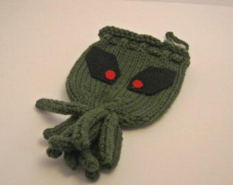 Cthulhu Knit Dice Bag
