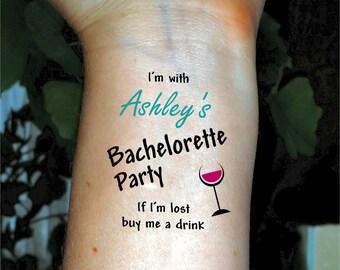 Bachelorette tattoo Bachelorette party tattoo Bride tattoo Bridal party tattoos temporary tattoos
