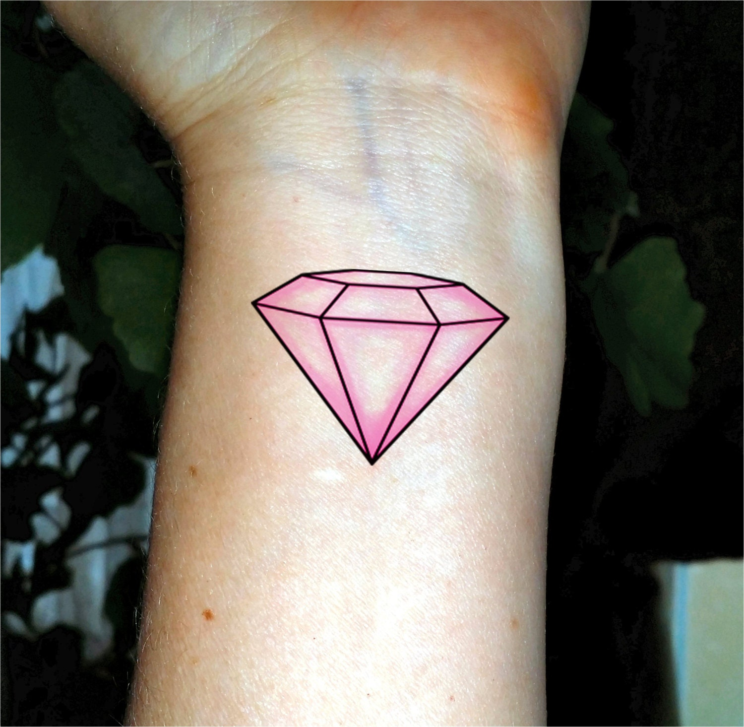 Bachelorette tattoo pink diamond tattoo Bachelorette party