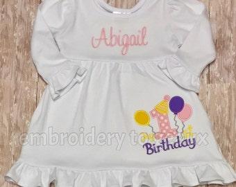 Personalized My First Birthday Dress--Girls Pastel Birthday Dress--Girls Birthday-First Birthday-Birthday Party Dress--First Birthday Outfit